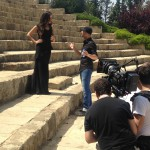 actress nadine njeim director mehyar matouk in action